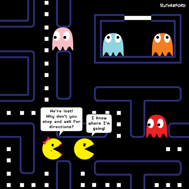 Mr. and Ms. Pac-Man cartoon
